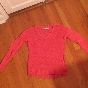 Loft peach v neck sweater